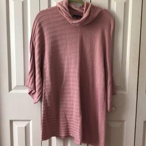 Plus Size Pink Poncho Sweater